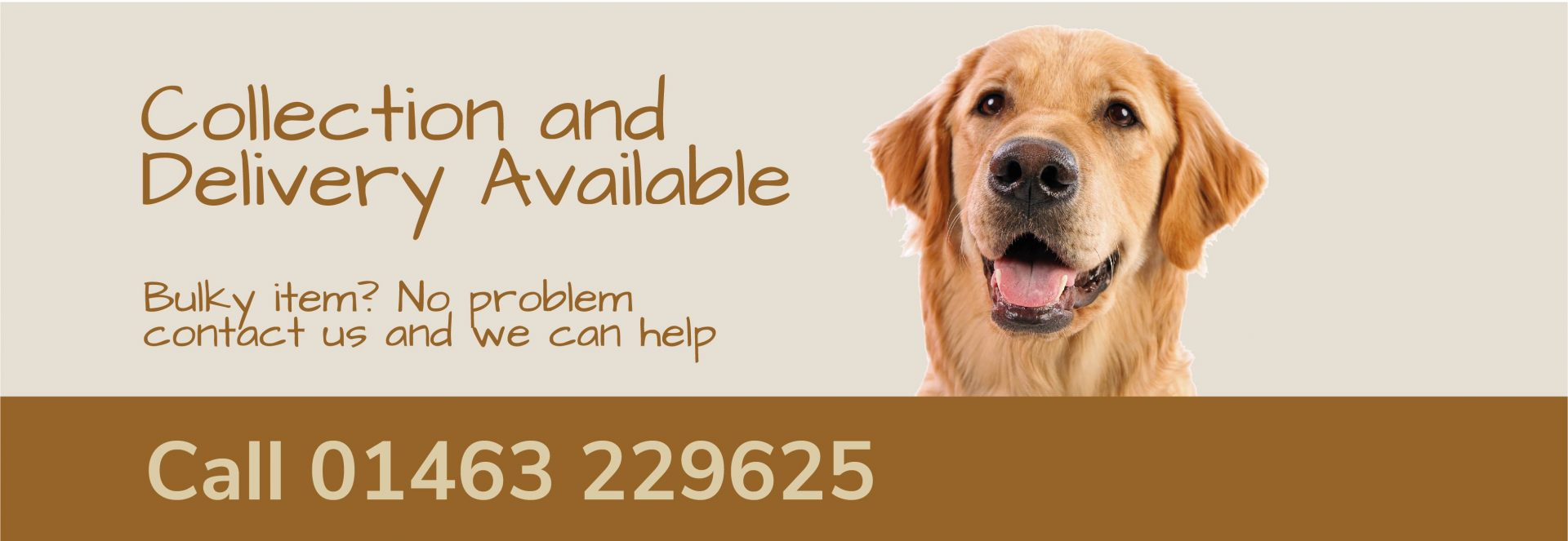 dog banner collection devliery