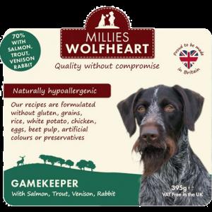 millies wolf heart wet food gamekeeper