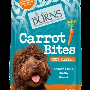 burns dog food pet carrot bites