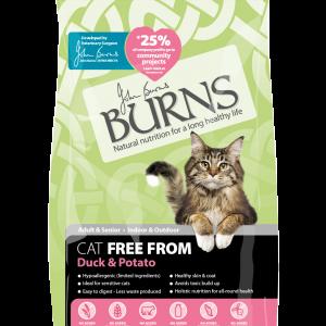 burns pet food cat duck