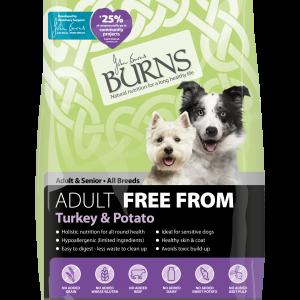 burns pet food turkey adult