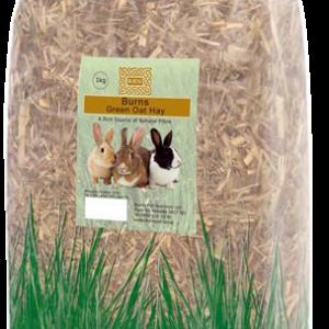 burns green oat hay pet food