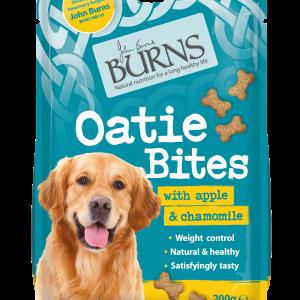 burns pet food oatie bites dog