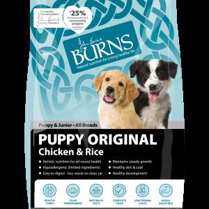 burns pet food puppy original dog