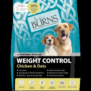 burns pet food weight control chicken dog