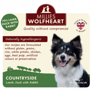 millies wolfheart dog countryside wet food