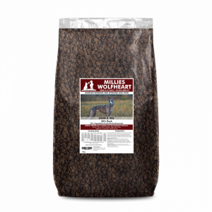 millies wolfheart dog food dry duck