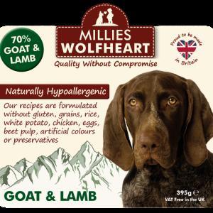 millies wolfheart dog goat lamb wet food
