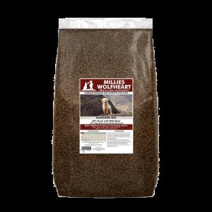 millies wolfheart dog food dry highland