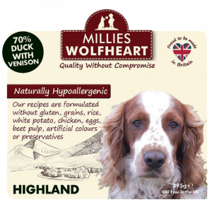 millies wolfheart dog highland wet food
