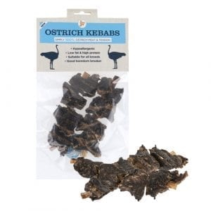 JR dog cat pet ostrich kebabs